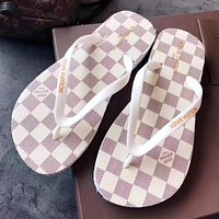 LV Louis Vuitton Woman Men Fashion Slipper Flats Shoes