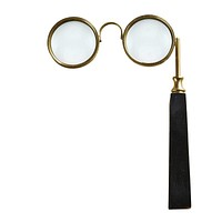 Vintage Eyeglass Shaped Magnifying Glass with Black Handle