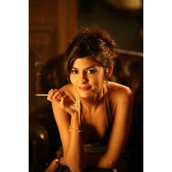 Audrey Tautou Poster Smoking Portrait 27inx40in