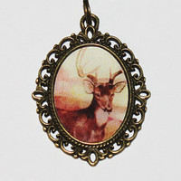 Deer Pendant Necklace
