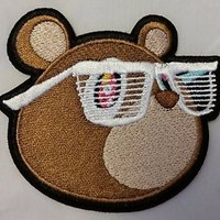 "Kanye West Yeezus Bear 3"" embroidered patch"