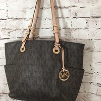 Michael Kors Shoulder Bag Signature Tote - Brown