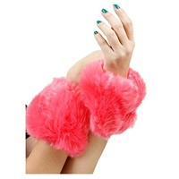 Pink Faux Fur Wrist or Ankle Warmer