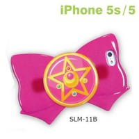 Strapya World : Sailor Moon Ribbon Shaped Case for iPhone 5s/5 (Crystal Star Brooch)