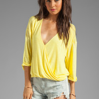 Blue Life 3/4 Sleeve Hayley Top in Sunbeam from REVOLVEclothing.com