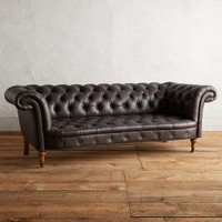 Leather Olivette Sofa by Anthropologie
