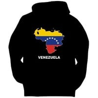 Venezuela - Country Map Color Countries Mens Hoodie (Black, Sizes X-Small - XXX-Large)