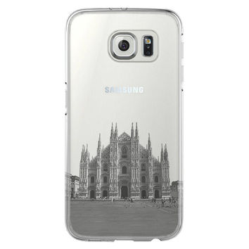 Milan Cathedral Antique Italy Samsung Galaxy S6 Edge Clear Case S6 Case S5 Transparent Cover iPhone 6s plus Case