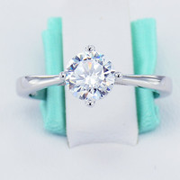 CLOSEOUT SALE 925 Sterling Silver Simulated Diamond Cubic Zirconia CZ 6 Heart Solitaire Prong Women's Engagement Promise Ring