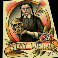 Wednesday Addams Tattoo Flash