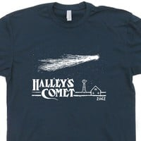 Halleys Comet T Shirt Vintage Nasa T Shirt Cool Science Shirt Astronomy Shirt