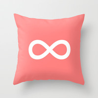 Coral Infinity Throw Pillow by M Studio