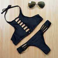 Vintage Bikini Set Swimsuit Swimwear For Women