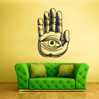 Wall Vinyl Sticker Decals Decor Art Bedroom Design Hamsa Hand Eye (z2335)