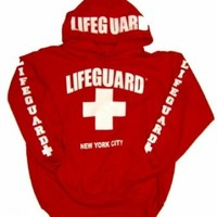 LIFEGUARD New York City Hoodie - Size: Adult Small - Color: Red