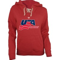 Old Time Hockey Women's USA Hockey Grant Red Hoodie
