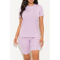Chill Out Set Round Neck Lavender