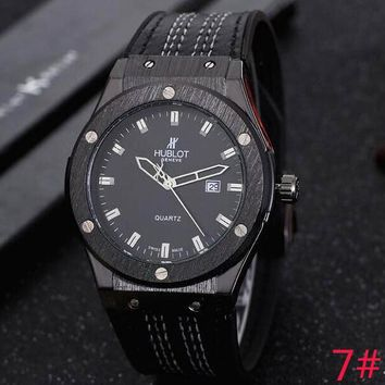 Hublot Trending Women Men Watch Stylish Movement Wristwatch 7# Black I-YY-ZT