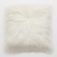 Dormify Faux Lamb Fur Pillow , Soft Muslin