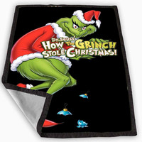 Dr Seuss how the grinch stole christmas Blanket for Kids Blanket, Fleece Blanket Cute and Awesome Blanket for your bedding, Blanket fleece *