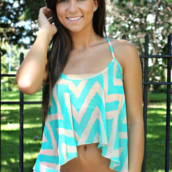 Undeniable Attraction Tank- Teal