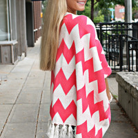 Lil' Hipster Oversized Cardi - Coral - Restocked