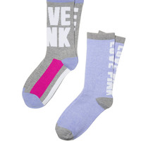 2-Pack Crew Sock - PINK - Victoria's Secret