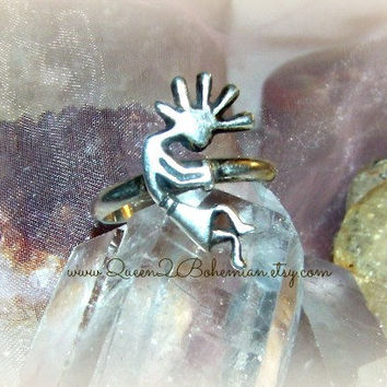 Kokopelli Ring 1970s, Sterling Silver, Direct Checkout ,Vintage,925