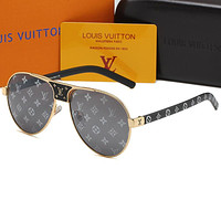 LV Louis Vuitton new printed letters personalized sunglasses glasses #3