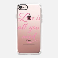 All you need is love (pink) iPhone 7 Case by Kanika Mathur | Casetify