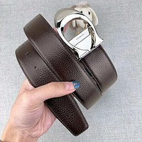 Coach New fashion leather couple belt width 3.4cm Coffee