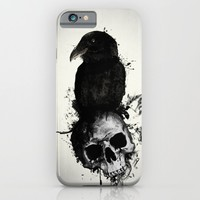 Raven and Skull iPhone & iPod Case by Nicklas Gustafsson