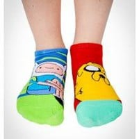 Adventure Time Mix and Match No Show Socks 10 Pk