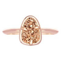 Women's Kendra Scott 'Haylee' Stone Ring - Rose Gold Rose Gold Drusy