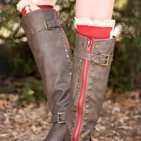 Rebel Girl Boots-Taupe