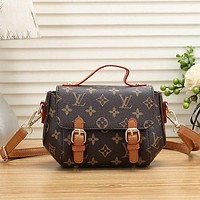 Louis Vuitton LV Fashion Leather Tote Crossbody Satchel Crossbody Bag