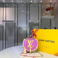 LV Louis Vuitton WOMEN'S MONOGRAM CANVAS Tambourin INCLINED SHOULDER BAG