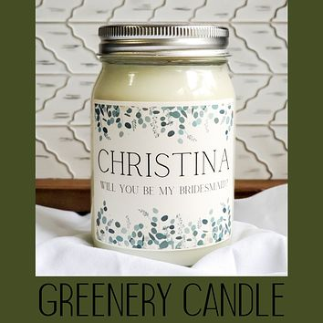 Bridal Proposal Candle - Customized with Name and Proposal Question