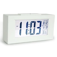 """HITO™ 6"""" Smart, Simple and Silent Alarm Clock w/ Date and temperature Display, Repeating Snooze, Sensor Light + Night Light"""