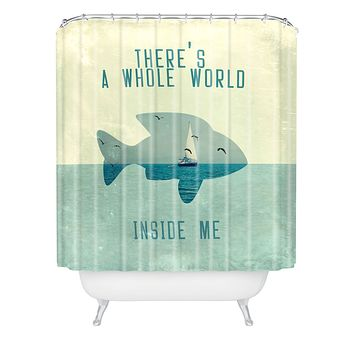Belle13 There Is A Whole World Inside Me Shower Curtain