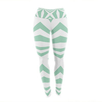 "Project M ""Starburst Mint"" Yoga Leggings"