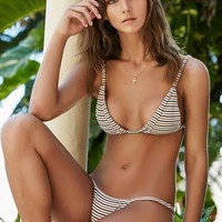 Nightwalker x PacSun Ella Stripe Fixed Triangle Bikini Top at PacSun.com