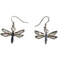 Stained Glass Dragonfly Earrings