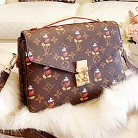 LV Louis Vuitton New High Quality Women Leather Handbag Tote  Satchel Shoulder Bag