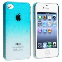 Light Blue Interwove Line Birds Nest Style Slim Snap on Hard Cover Case for iPhone 4 4S
