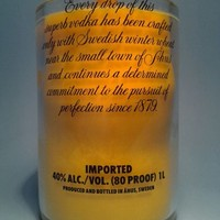 (1) Yellow Absolut 20 oz Soy Candle With One Standard Wick - Bottle Heaven