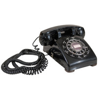 Black Rotary Dial Phone