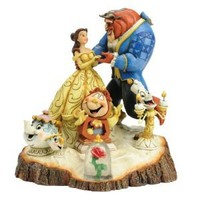"""Disney Traditions by Jim Shore Beauty and the Beast Figurine """"Tale as Old as Time"""" (4031487)"""