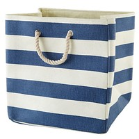 Stripes Around the Floor Bin (Dk. Blue) in Hampers and Storage | The Land of Nod