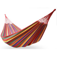 Comfortable Potable Nylon Parachute Outdoor Rainbow Hammock With Size 280*80cm Portable Camping Survival Relax In the Net Bed